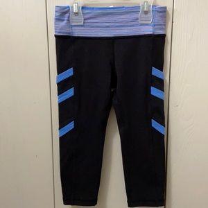 Ivivva Black & Blue Crop Exercise Pants w/Pockets